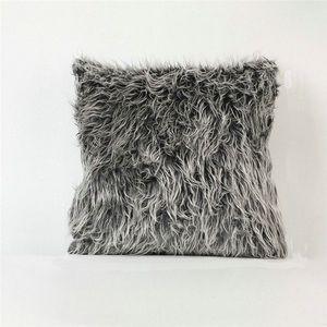 IKEA Blue Furry Decorative Pillow